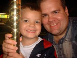 TJ and Dad At Tiger Game 9-08-04